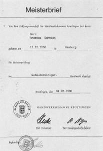 Meisterbetrieb / Meisterbrief