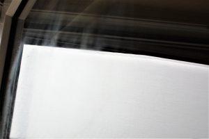 Büroreinigung Glastür mit Wischspuren