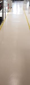 Maschinelle Grundreinigung und Fußbodenbeschichtung in Hamburg mit Longlife Conductan eines ableitfähigen ESD-Fußbodens